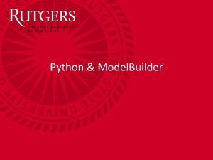 Python Model Builder Python and Model Builder Overview