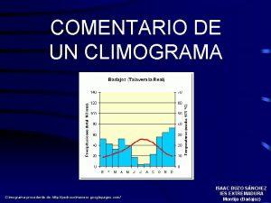 COMENTARIO DE UN CLIMOGRAMA Climograma procedente de http