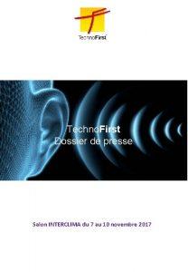 Techno First Dossier de presse Salon INTERCLIMA du