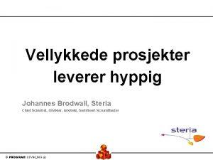 Vellykkede prosjekter leverer hyppig Johannes Brodwall Steria Chief