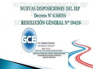 LEGISLACION IRP Ley N 2 42104 art 10