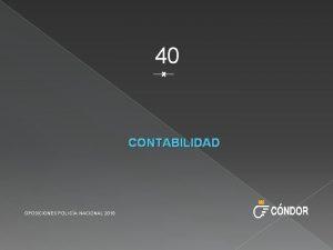 40 CONTABILIDAD OPOSICIONES POLICA NACIONAL 2018 EL PATRIMONIO