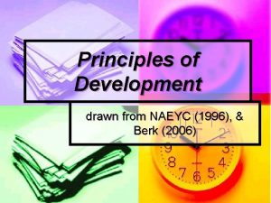 Principles of Development drawn from NAEYC 1996 Berk