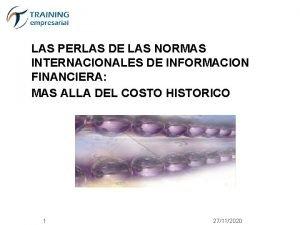 LAS PERLAS DE LAS NORMAS INTERNACIONALES DE INFORMACION