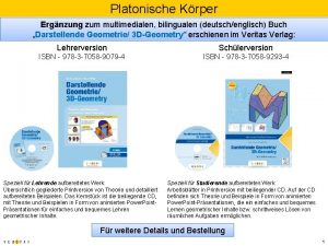 Platonische Krper Ergnzung zum multimedialen bilingualen deutschenglisch Buch