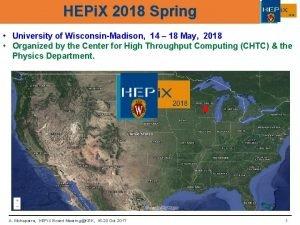 HEPi X 2018 Spring 2018 University of WisconsinMadison