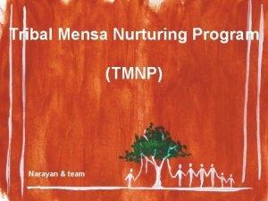 Tribal Mensa Nurturing Program TMNP Narayan team Who