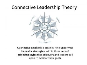 Connective Leadership Theory Connective Leadership outlines nine underlying