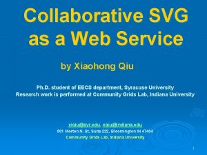 Collaborative SVG as a Web Service by Xiaohong