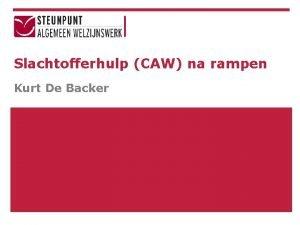 Slachtofferhulp CAW na rampen Kurt De Backer Structuur