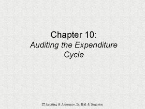 Chapter 10 Auditing the Expenditure Cycle IT Auditing