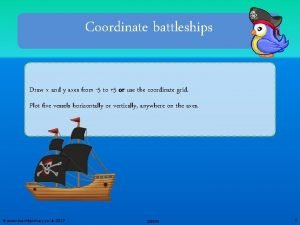 Coordinate battleships Draw x and y axes from