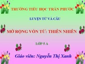 TRNG TIU HC TRN PHC LUYN T V