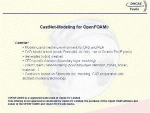 Cast NetModeling for Open FOAM Cast Net Modeling
