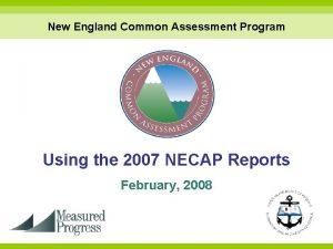 New England Common Assessment Program Using the 2007