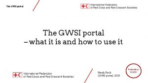 The GWSI portal what it is and how