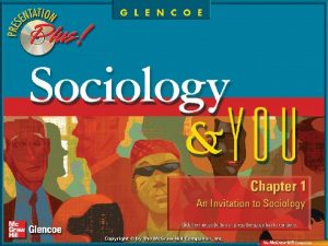 Chapter Preview Section 1 The Sociological Perspective Section