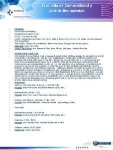 I Jornada de Comorbilidad y Artritis Reumatoide ORGANIZA