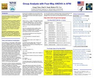 Group Analysis with FourWay ANOVA in AFNI Gang