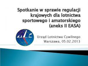 Spotkanie w sprawie regulacji krajowych dla lotnictwa sportowego