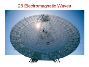23 Electromagnetic Waves Principle Faradays law timevarying Bfield
