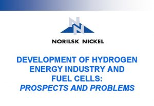 DEVELOPMENT OF HYDROGEN ENERGY INDUSTRY AND FUEL CELLS