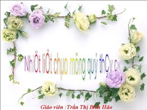 Gio vin Trn Th Bch Ho KIM TRA