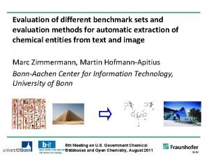 Evaluation of different benchmark sets and evaluation methods