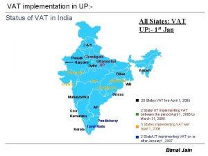 VAT implementation in UP Status of VAT in