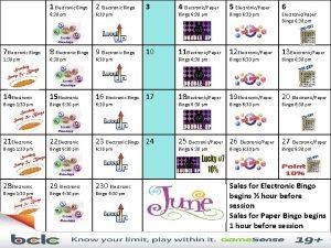 1 Electronic Bingo 2 Electronic Bingo 3 4