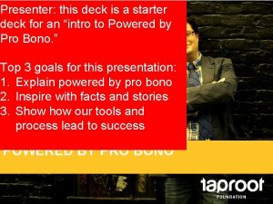 Presenter this deck is a starter deck for