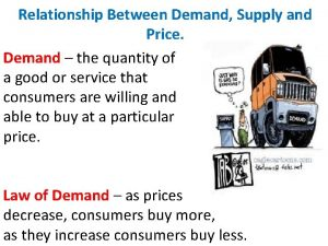 Relationship Between Demand Supply and Price Demand the