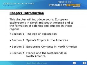 Chapter 2 Section 2 Chapter Introduction This chapter