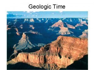 Geologic Time Determining geological ages Relative dating placing