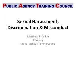 Sexual Harassment Discrimination Misconduct Matthew P Dolan Attorney