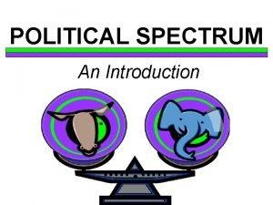 POLITICAL SPECTRUM An Introduction DEFINITION A political spectrum