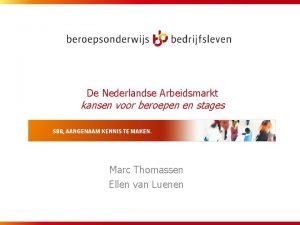 De Nederlandse Arbeidsmarkt kansen voor beroepen en stages