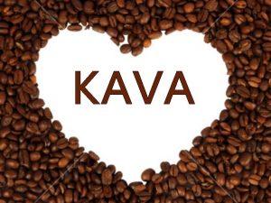 KAVA SPLONO Kava je napitek iz prevretih zmletih