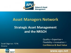 Asset Managers Network Strategic Asset Management and the