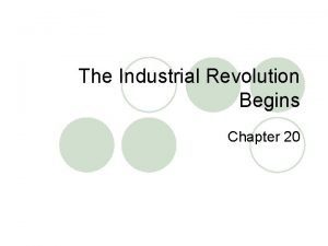 The Industrial Revolution Begins Chapter 20 Vocabulary l