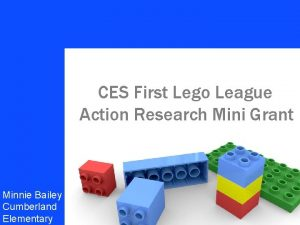 CES First Lego League Your name Action Research