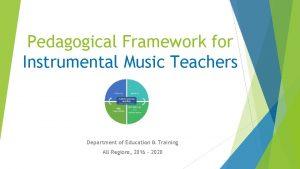 Pedagogical Framework for Instrumental Music Teachers Department of