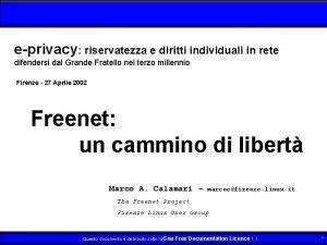 eprivacy riservatezza e diritti individuali in rete difendersi
