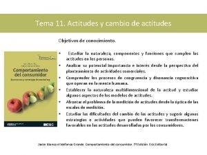 Tema 11 Actitudes y cambio de actitudes Objetivos
