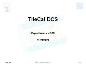 Tile Cal DCS Expert tutorial DCS 11242020 Fabio