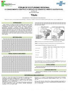 FRUM DE ECOTURISMO REGIONAL O CONHECIMENTO CIENTFICO A