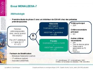 Essai MONALEESA7 Mthodologie Premire tude de phase 3