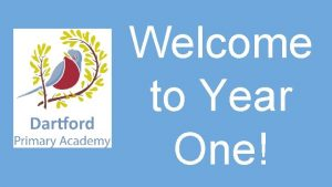 Welcome to Year One What will your child