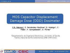 F R Palomo et al MOS Capacitor DDD