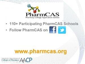 110 Participating Pharm CAS Schools Follow Pharm CAS